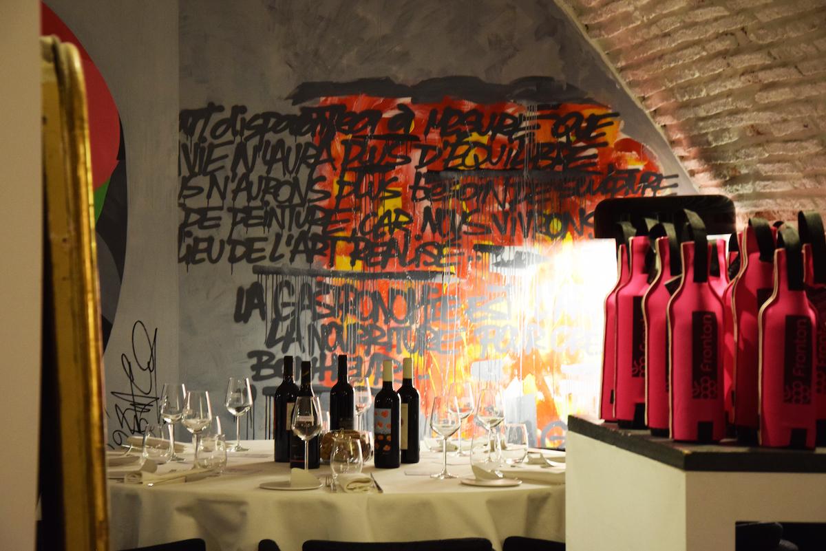 d gustation des vins aop fronton au restaurant py r. Black Bedroom Furniture Sets. Home Design Ideas