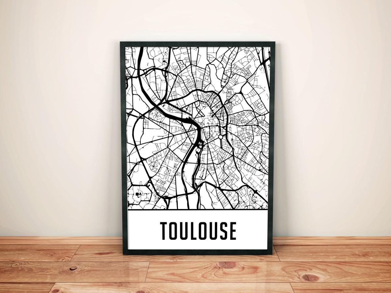 Cadre carte Toulouse