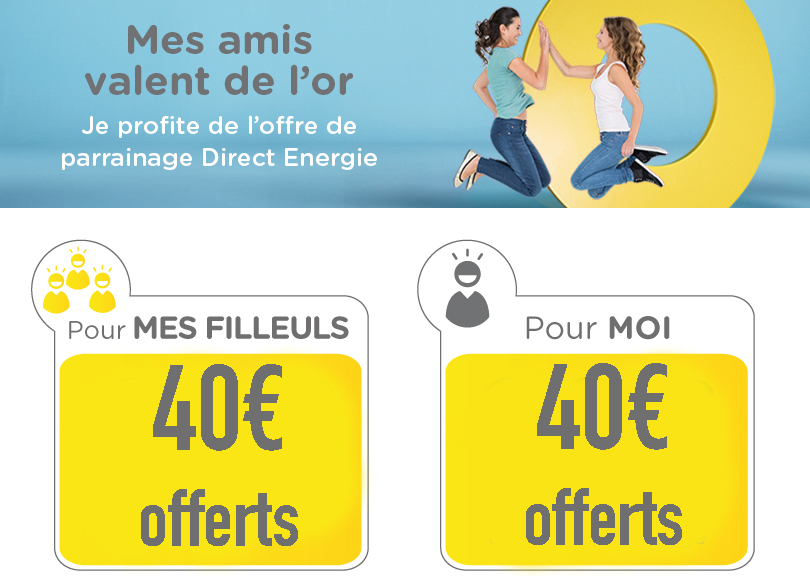Code promo Direct Energy 40€ offerts